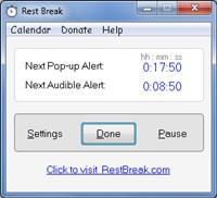 RestBreak Screenshot on Windows