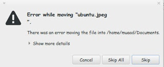 "Error while moving ""file"""