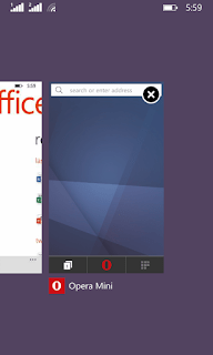 Multi-tasking with office and Opera mini
