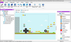 Gdevelop, free game design software