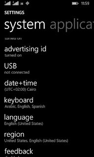 Windows Phone time and date settings