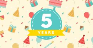 خمس سنوات من التدوين