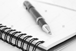 Pen and notebook stock art