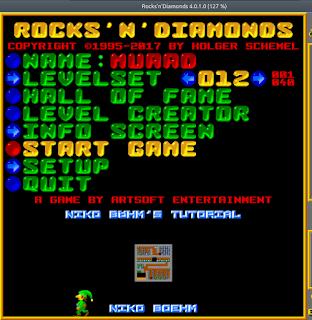 Rocks'n'Diamonds main menu