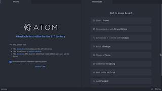Atom Editor interface