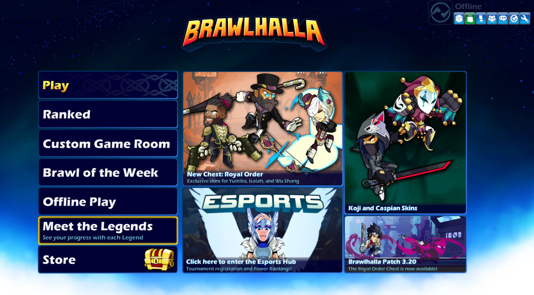 Game of the week presents: Brawlhalla 3.20